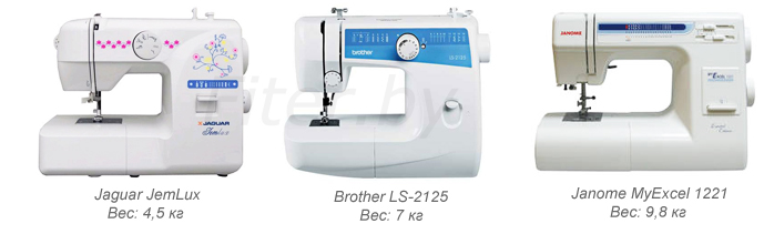 Вес швейной машины